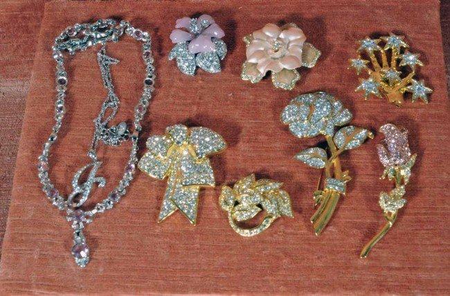 421: Lot of Nolan Miller Costume Jewelry.  Pins, Neckla
