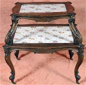 455 Louis XV Style Carved Fruitwood Pastry Table  Flo
