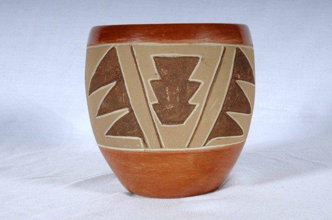 13: American Indian San Juan Pueblo Small Pottery Bowl.