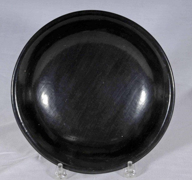 14: American Indian Blackware Santa Clara Pottery Bowl.