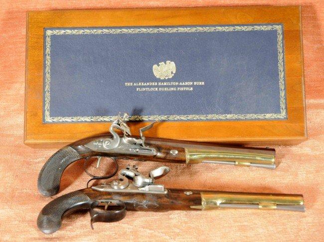 169: Pr. Flintlock Duelling Pistols.  U.S. Historical S