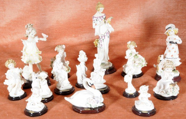 14: 15 pc. Italian Capo de Monte Marked Small Figurines