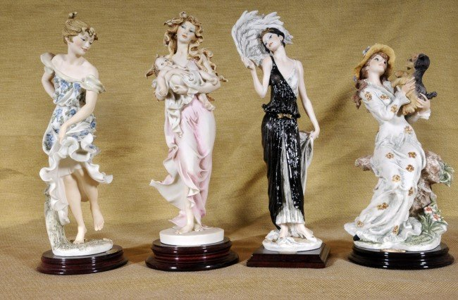 319: 4 Italian Figures of Ladies.  All Sig. Guiseppe Ar