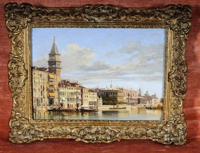 478: Antonietta Brandeis (1849-1910) Oil Ptg. of Venice