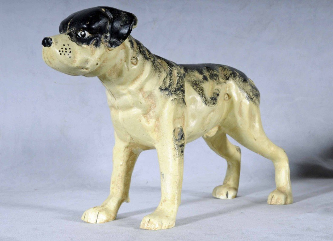 "617: CAST IRON DOG SHAPED DOOR STOP.  10"" H X 14"" L."