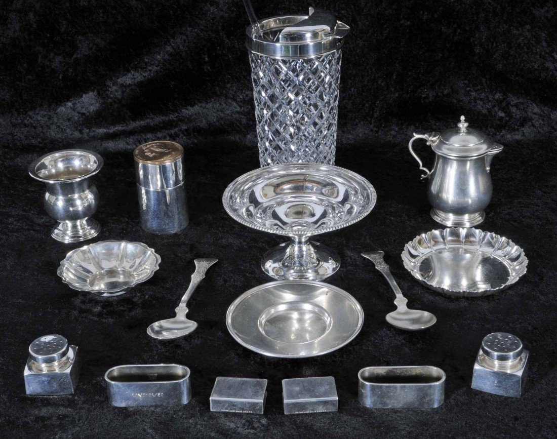 17: 16 PC. MISCELLANEOUS LOT OF STERLING SILVER ITEMS.