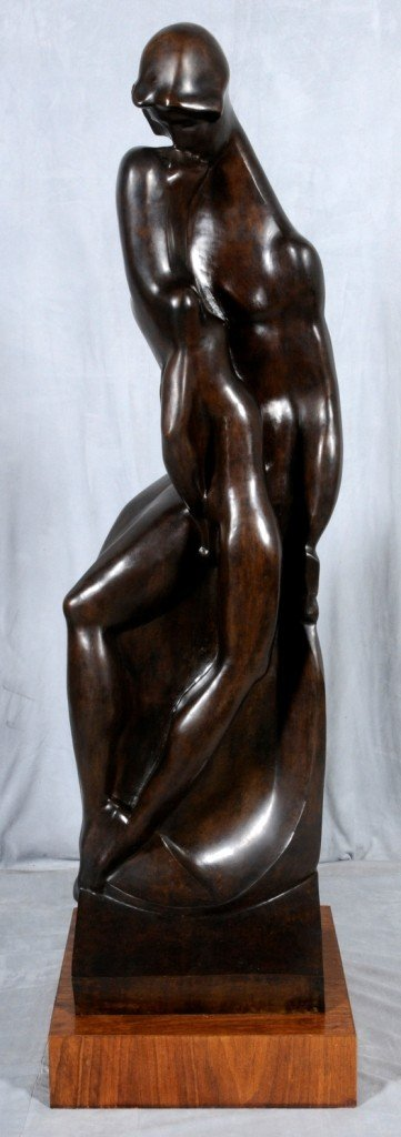 131: JOSEPH CSAKY (1888-1971).  BRONZE SCULPTURE ENTITL