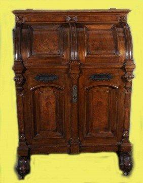 107 Antique American Wooten Desk In The Wells Fargo St Lot 0107