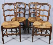 307 SET OF CARVED OAK FRENCH SIDE CHAIRS FRENCH PROVE