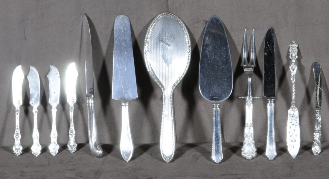 16: MISC. LOT OF 12 STERLING SILVER ITEMS. CONSISTING O