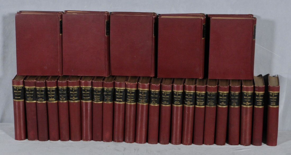 """15: 33 VOL.  """"THE NOVELS OF BALZAC."""" FROM THE MALCOLM F"""