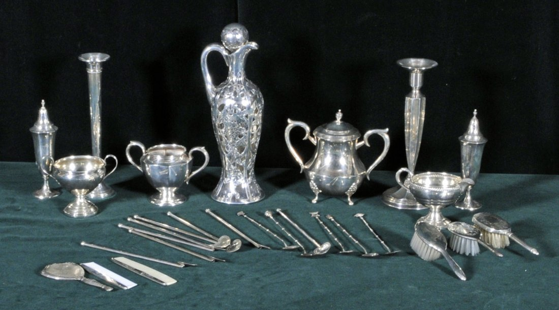 20: MISC. LOT OF STERLING SILVER PCS. CONSISTING OF 8 H