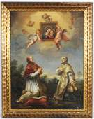 160: 19TH C. OIL PTG. CNV. DEPICTING A RELIGIOUS SCENE