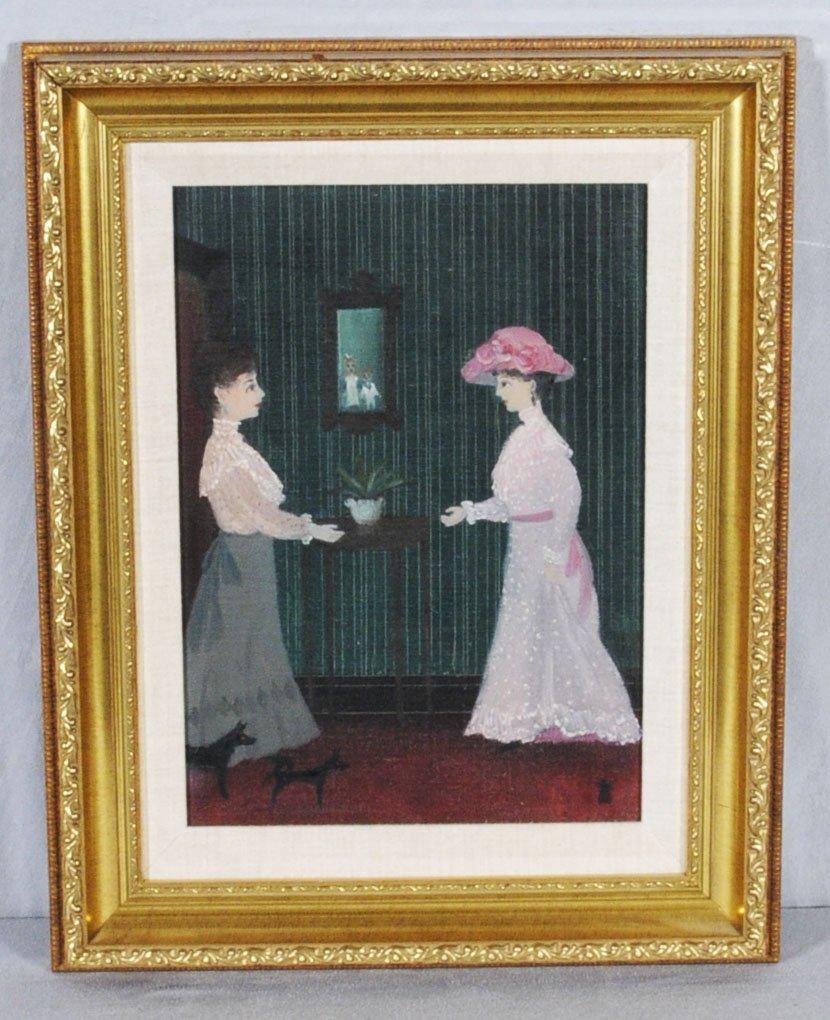 181: HELEN BRADLEY ENGLISH OIL PTG. BD. OF TWO LADIES.