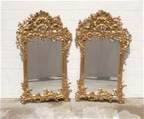 196: PR. ITALIAN GILTWOOD CARVED WALL MIRRORS. OPENWORK