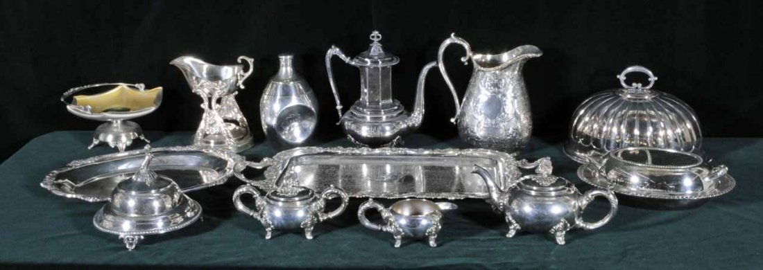 6: MISC. LOT OF SILVER PLATED PIECES CONSISTING OF A 3