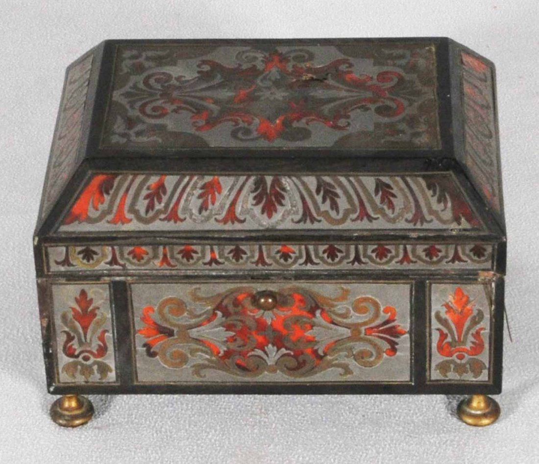 54: ANT. FRENCH BOULLE STYLE BOX.