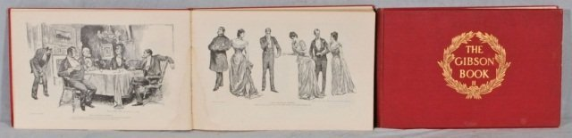 20: 2 VOL. OF  THE GIBSON GIRLS  W/ RED COVERS. FAIR. D
