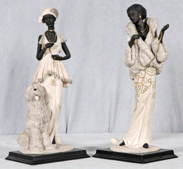9: 2 ITALIAN FIGURES, DEPICTING FASHIONABLY DRESSED LAD