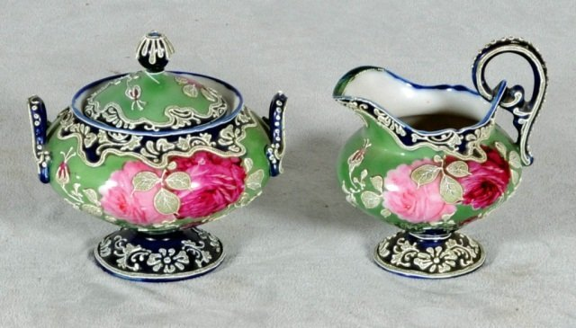 11: 2 PC. JAPANESE NIPPON PORCELAIN.  CONSISTING OF A C