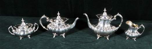 135: 4 PC.  REED & BARTON STERLING SILVER TEA & COFFEE