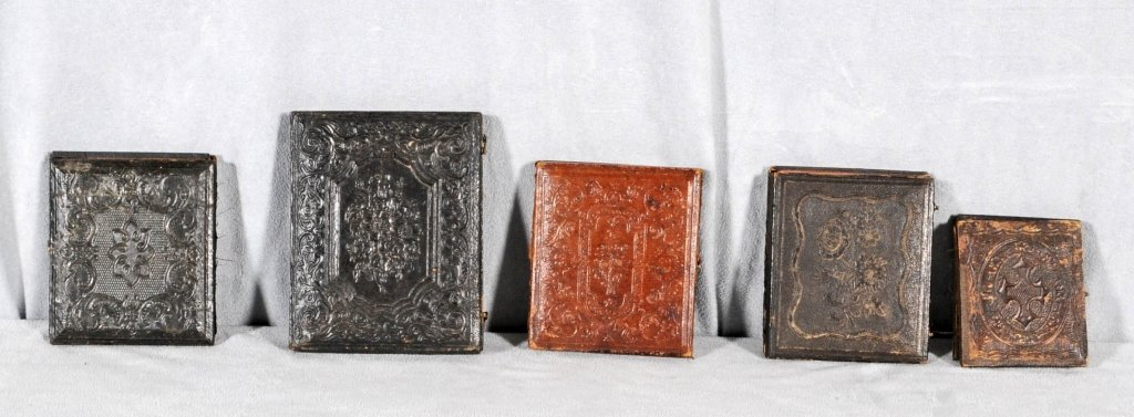 5 PC. CONSISTING OF TIN TYPES AND DAGUERROTYPES. 3 TIN