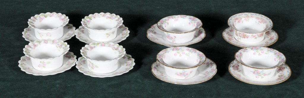 16 FRENCH LIMOGES RAMEKINS. CONSISTING OF 8 CUPS AND 8
