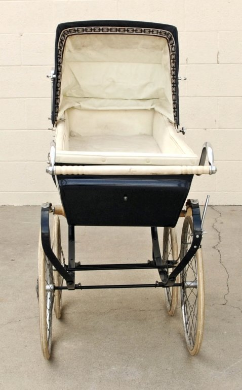 "ENGLISH  SWAN  BABY  CARRIAGE. GOOD. 50""  H  X  54""  W  - 2"