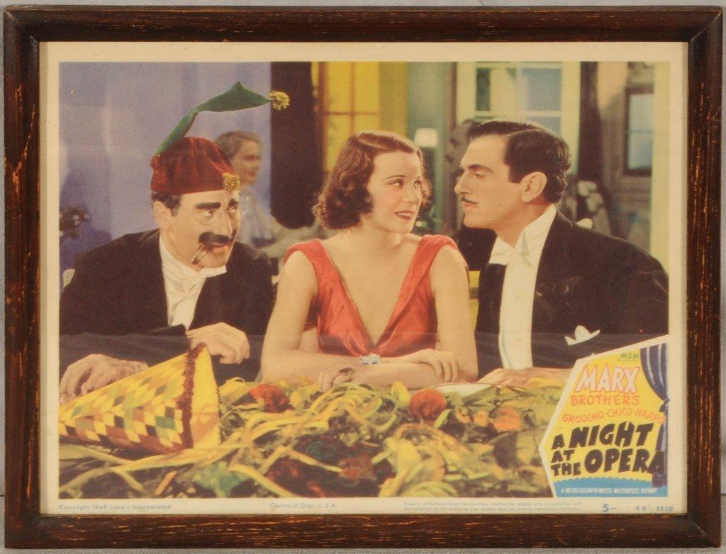 "1948 LOEW'S MOVIE CARD.  "" A  NIGHT AT THE OPERA."" MARX"