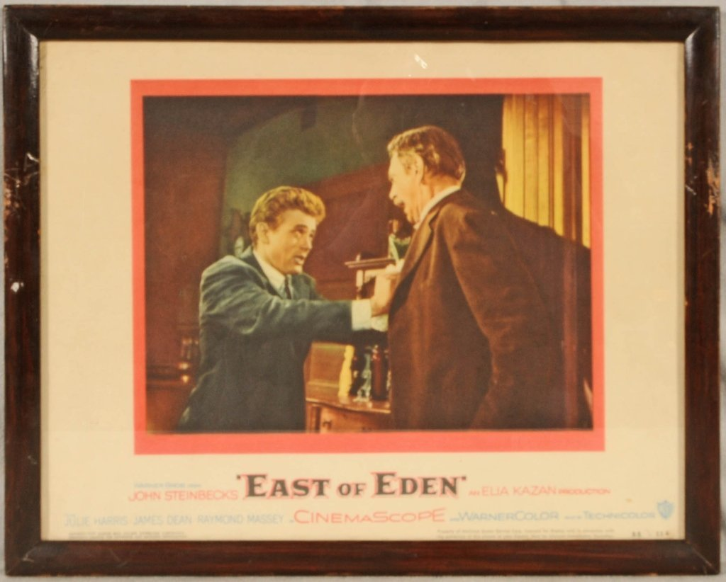"""1955 MOVIE CARD OF """" EAST OF EDEN"""" BY  JOHN STEINBECK."""