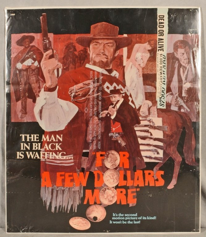 """MOVIE  POSTER   """"  FOR  A  FEW DOLLARS MORE"""". STARRING"""