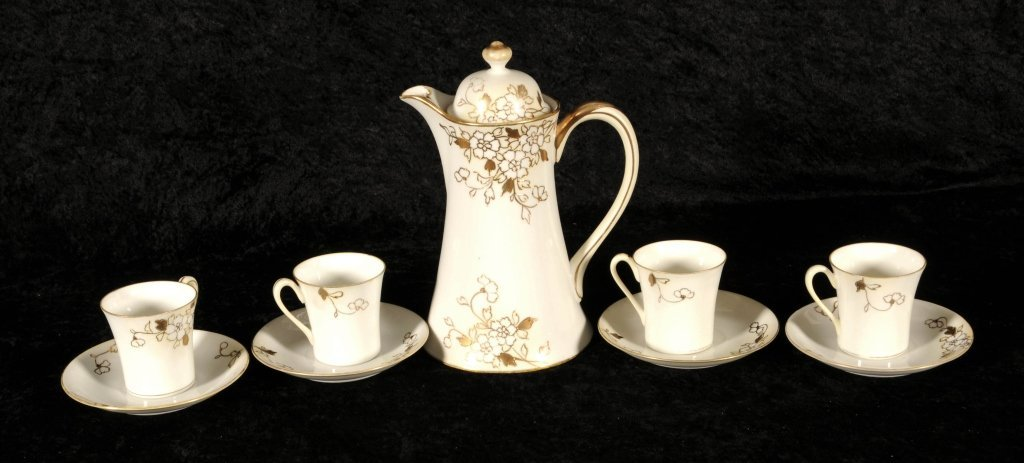 9 PC.   JAPANESE NIPPON PORCELAIN TEA SET. CONSISTING