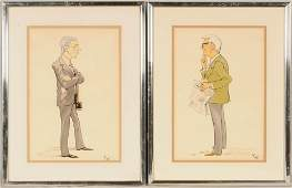 Pr Of Charicature Drawing. Depicting Cary Grant And