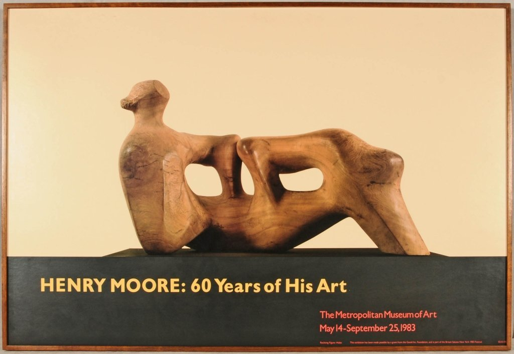 """HENRY MOORE POSTER. ENT. """"HENRY MOORE: 60 YEARS OF HIS"""