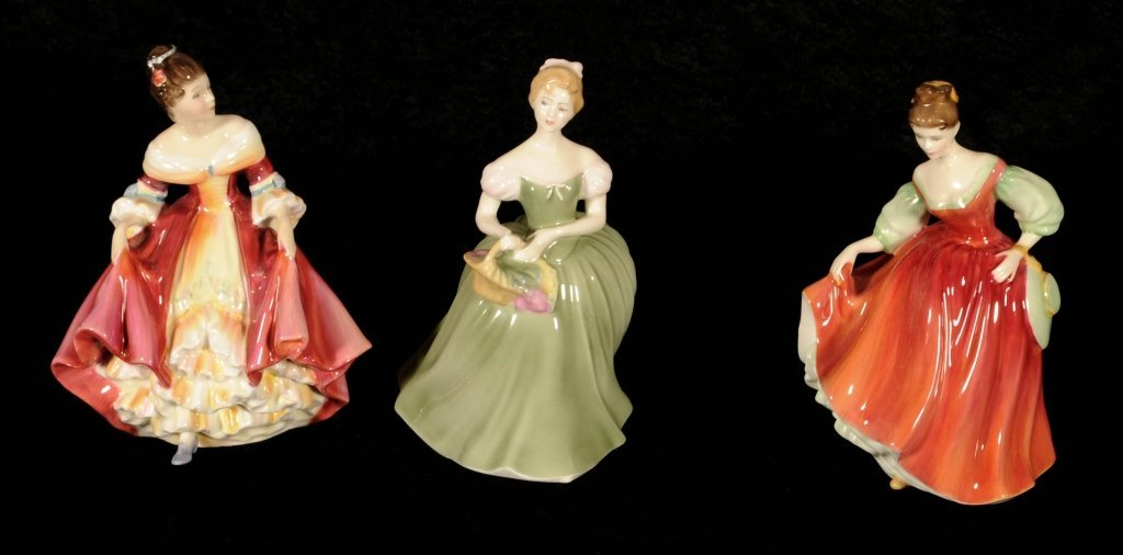 """3 ROYAL DOULTON FIGURINES OF LADIES. ENTITLED """""""
