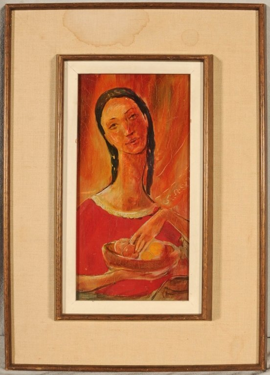 OIL PAINTING OF  A  LADY.  SIGNED VIOLA   ALLEN.