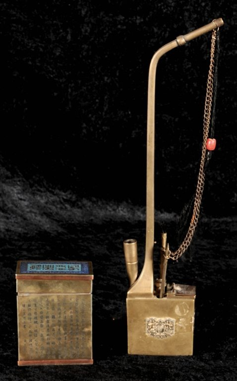2  CHINESE PCS.  CONSISTING OF AN OPIUM PIPE AND A