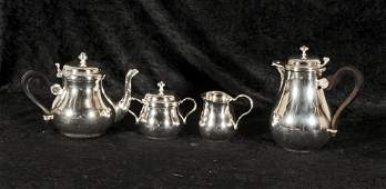 4 PC  FRENCH SILVER PLATED CHRISTOFLE  TEA  COFFEE