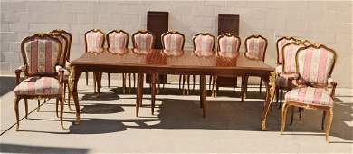 15  PC  LOUIS XV STYLE DINING SET.  CONSISTING OF A