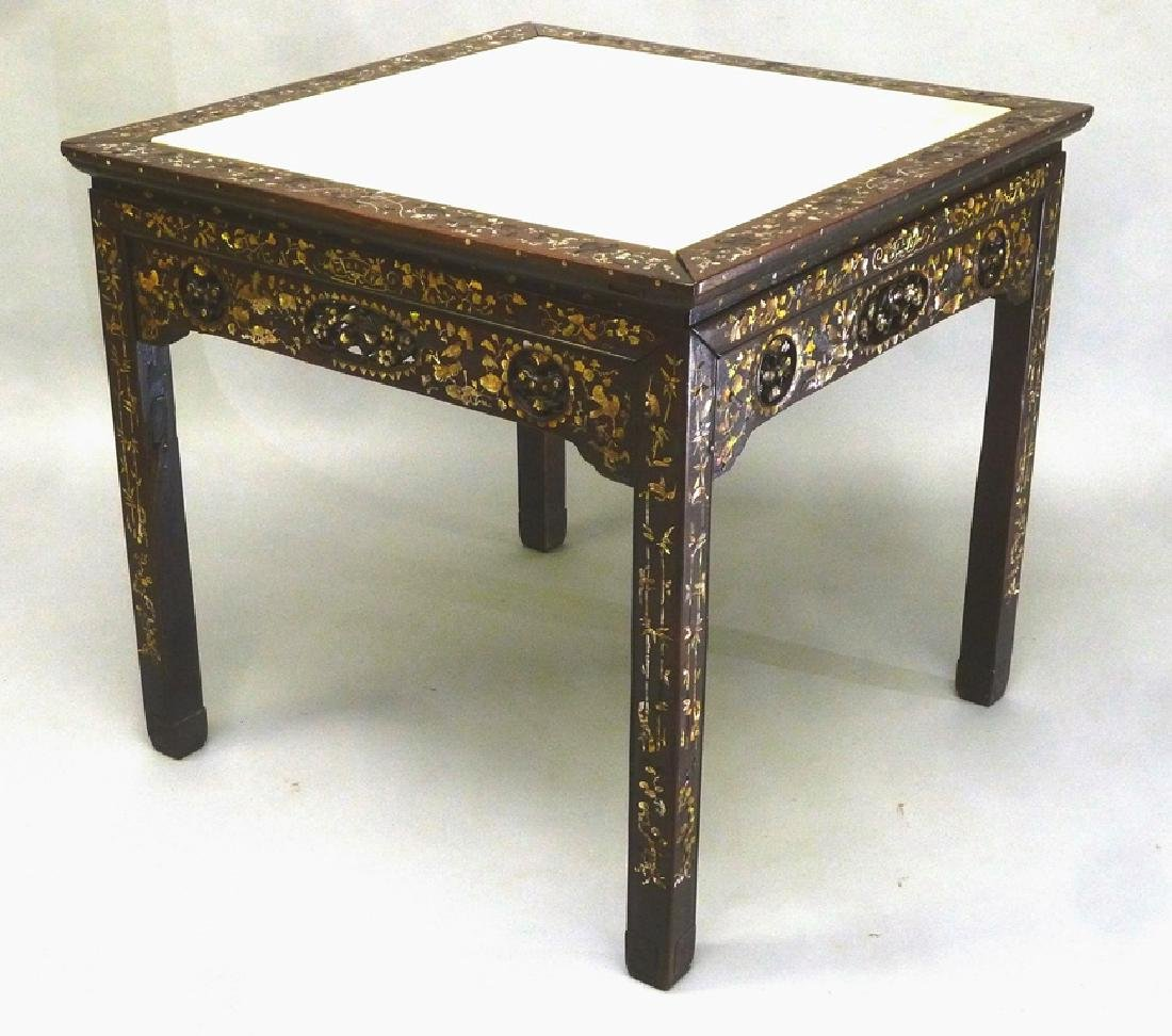 Massive 19th Century Rosewood Mother of Pearl Inlaid