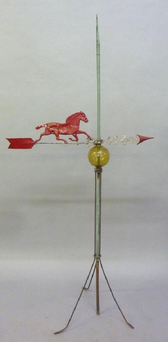 Circa 1900 Zink & Cast Iron Horse Weathervane with a