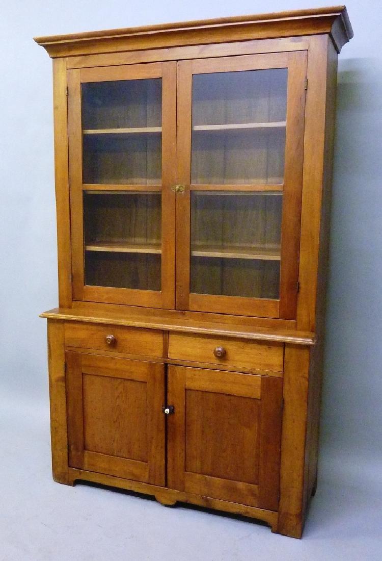 Circa 1860's Hand Made Butternut Cupboard built in