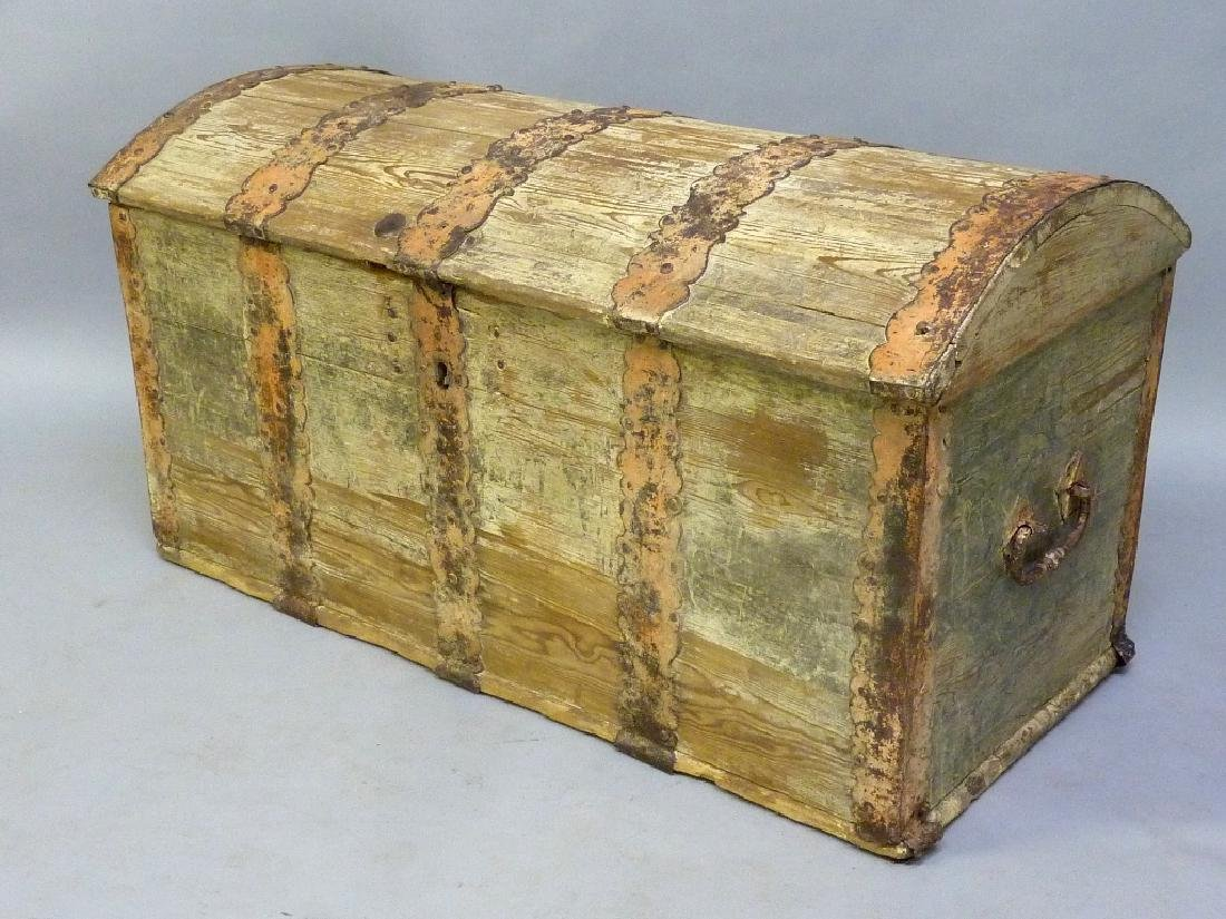 1850's Immigrant Trunk signed H Christensen Lake