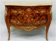 French Louis XV Style Marquetry Commode, Early 20th