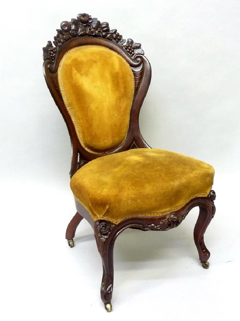 Circa 1850's Rosewood Laminated Chair by JH Belter  in
