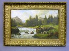 Late 19th Century Oil on Canvas signed (S. Clark) of