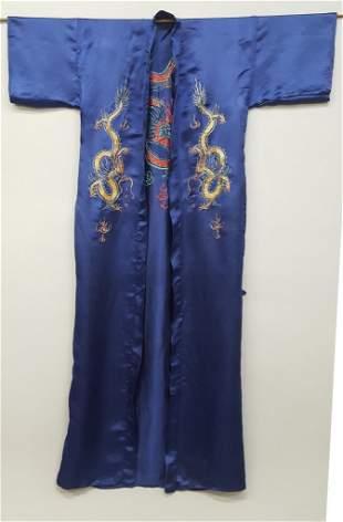 "Asian Kimono with Dragon Decoration. Hgt 59"" width to"