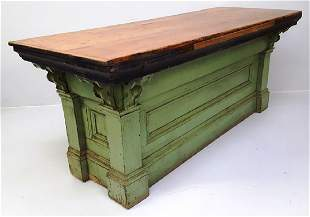 Circa 1870's Pine Country Store Counter found in