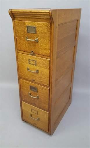 Circa 1910 1/4 cut Oak file signed Yaluman & Erbe Mfg