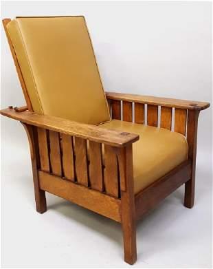 Circa 1915 (L & JG Stickley #471)Morris Chair with
